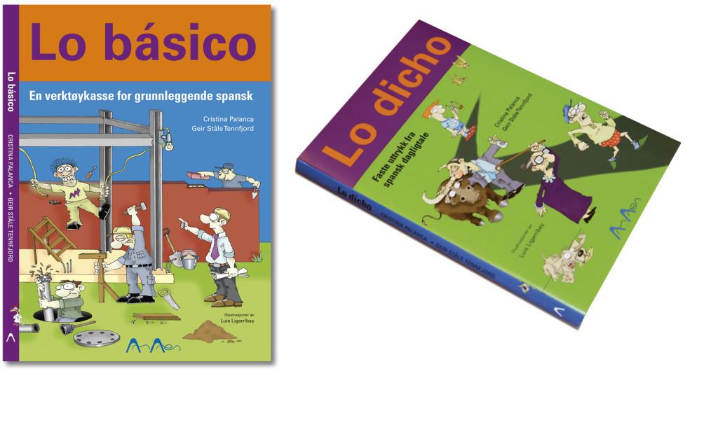 Spanske lærebøker formgitt for Amares AS.