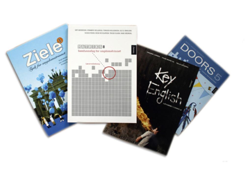 I forbindelse med Kunnskapsløftet designet OPAL design bøker for Aschehoug forlag.