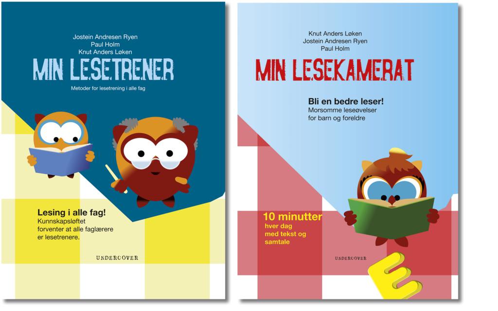Min lesetrener og Min lesekamerat, bokdesign for Undercover forlag.