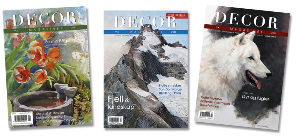 Forsider fra DECOR-magasinet i 2013.