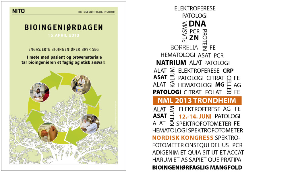 Plakat og illustrasjon for NITO, Bioingeniørfaglig institutt